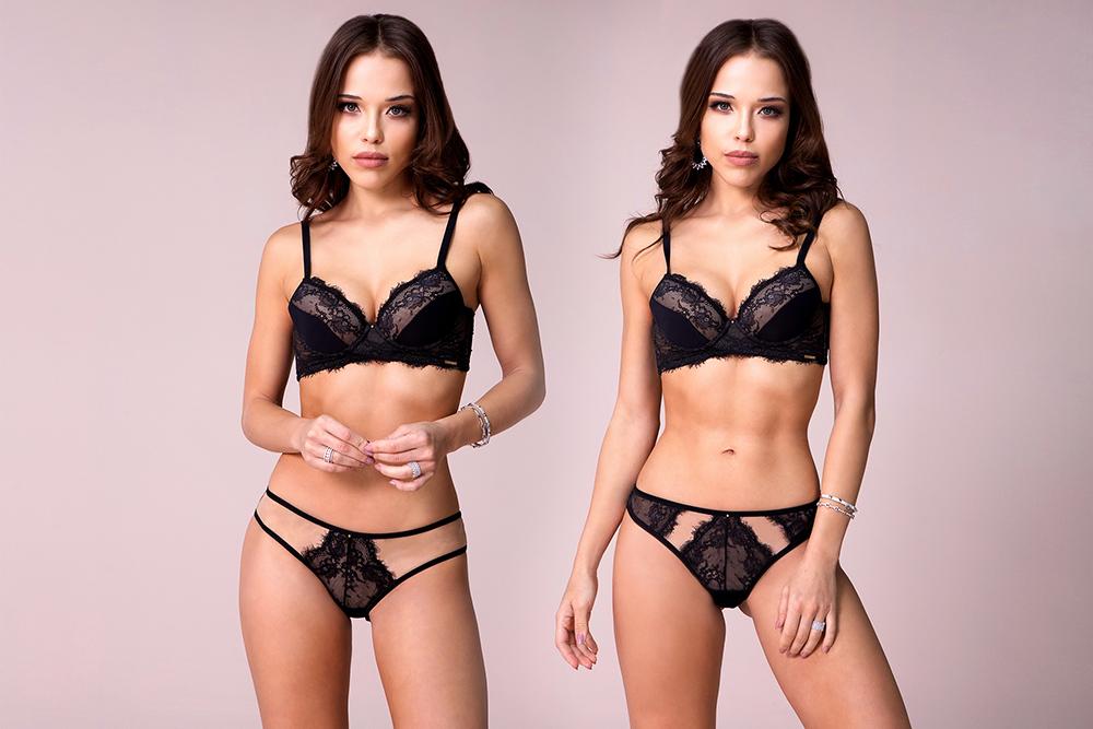 Conjunto de lingerie com duas calcinhas_Canções por Ivete_Diamantes Lingerie