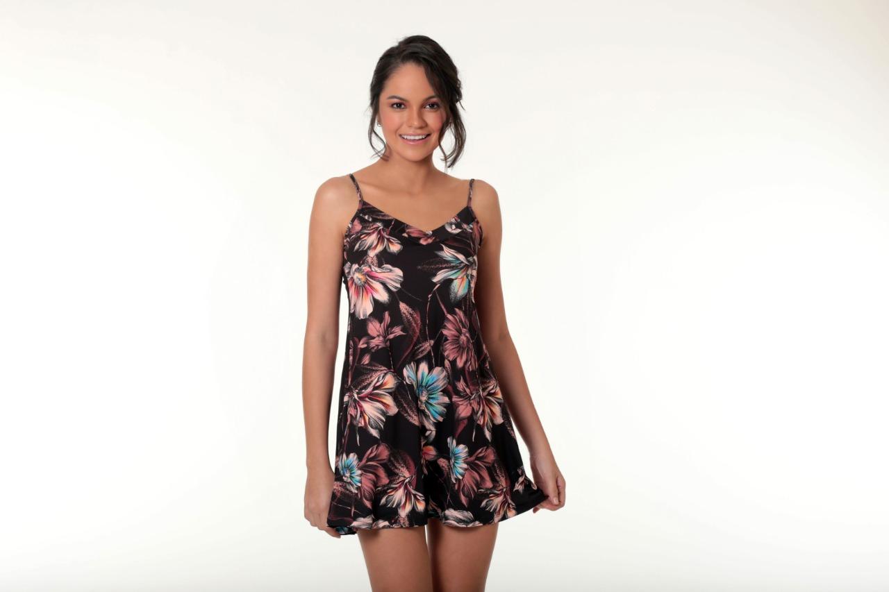 Vestido ou camisola? Você decide! Assim é a moda homewear! (Foto: Diamantes Lingerie)