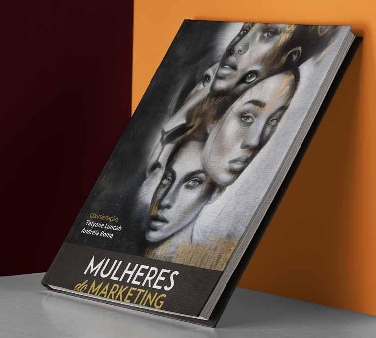 """Capa do livro """"Mulheres do Marketing: elas contam como conseguiram chegar nas maiores empresas do Brasil""""."""