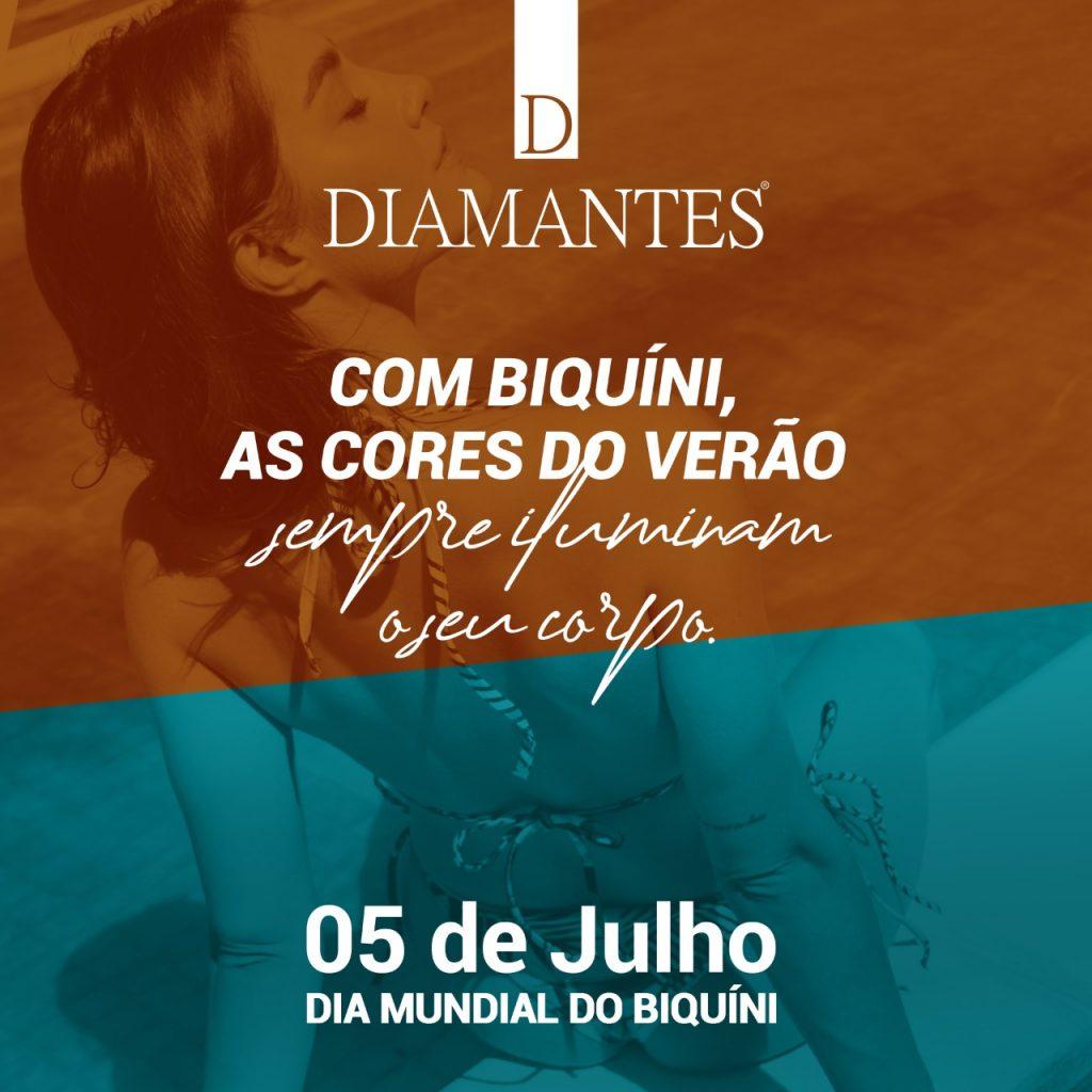 A Diamantes é uma marca especialista em Moda Praia e, por isso, celebra o Dia Mundial do Biquíni com você. (Foto: Diamantes)